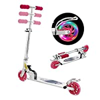 Weskate Kids Scooter Kick Scooter Two wheel Foldable with Adjustable Height for Kids boys and girls [並行輸入品]