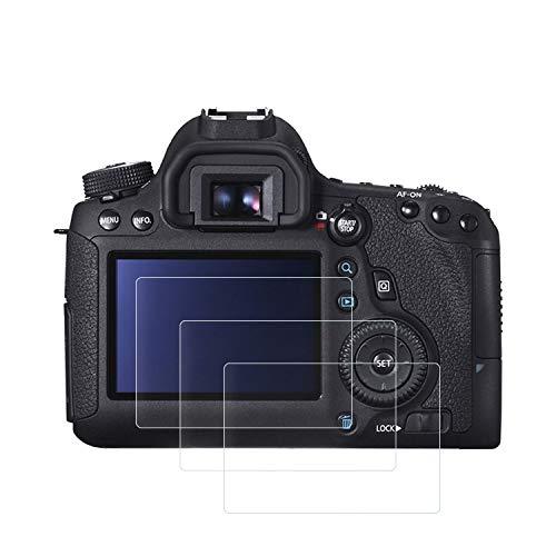 保護フィルム キヤノン Canon EOS 6D,(3枚入り)強化ガラスフィルム スクリーン保護フィルム スチールフィルム 9H高硬度 耐衝撃 飛散防止 アンチ指紋スクラッチ