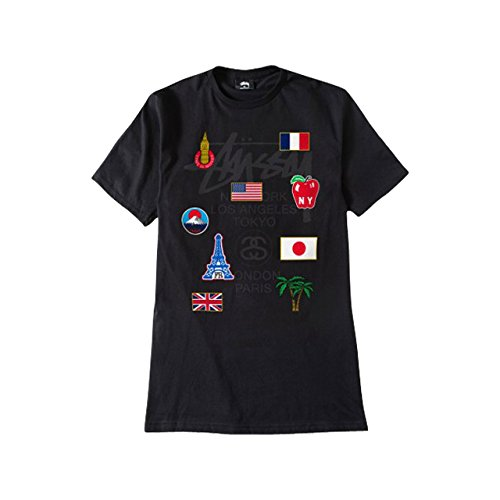 (ステューシー) STUSSY WT Flags Tee 1903693 Mサイズ ブラック ステューシー Tシャツ 半袖 メンズ ワールドツアー フラッグ Tシャツ [並行輸入品]