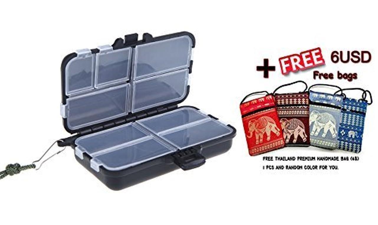脳蒸留する嘆願釣りタックルボックスフライ釣りルアーPescaボックススピナー餌ミノーポッパー9コンパートメントプラスチック釣りボックス( box9 +バッグ)