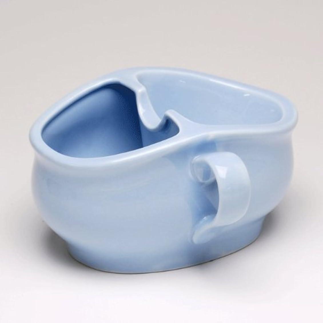 拍手する家庭教師風が強いパーフェクト シェービングカップ ブルー