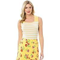 Review Women's Fiesta Stripe Top Daffodil/White