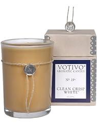VOTIVO アロマティック グラスキャンドル クリーンクリスプホワイト