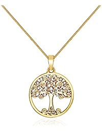 MESTIGE Enlightened Tree of Life Necklace in Gold with Crystals from Swarovski®, Gift