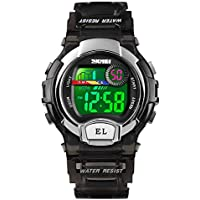 Digital Watches for Boys Girls, 5ATM Waterproof Kids Sports Watch with Alarm/Multi-Color LED Luminous, Children Digital Wrist Watches for Birthday Christmas Students Gift