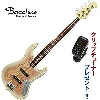 アクティヴ仕様!ジャズベース|Bacchus Universe Series/WJB-BP/Act BD-B(ブロンドバースト) バッカス・ベース|クリップチューナー・プレゼント中!