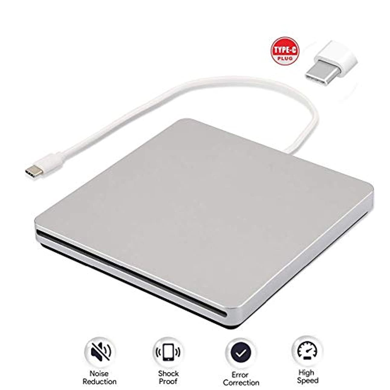 分布思い出す違うLcxliga 3.0 USB搭載の外付けブルーレイDVDドライブCD、プレーヤー、バーナー-ラップトップまたはデスクトップでの書き込みと読み取り