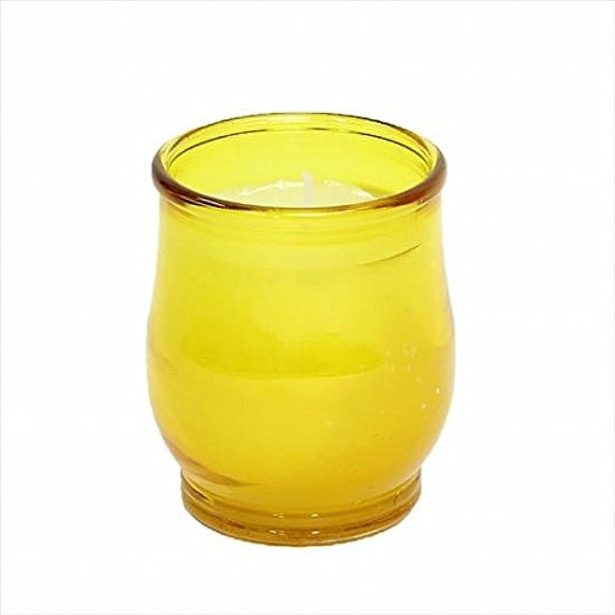 平方情熱的はねかけるカメヤマキャンドル(kameyama candle) ポシェ(非常用コップローソク) 「 アンバー 」