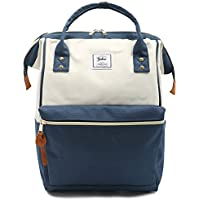 Oflamn Doctor Style Backpacks - Top Open Multipurpose Canvas Casual Daypack Laptop Backpack Travel Bag for Men and Women