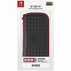 【Nintendo Switch対応】タフポーチ for Nintendo Switch ブラック×レッド