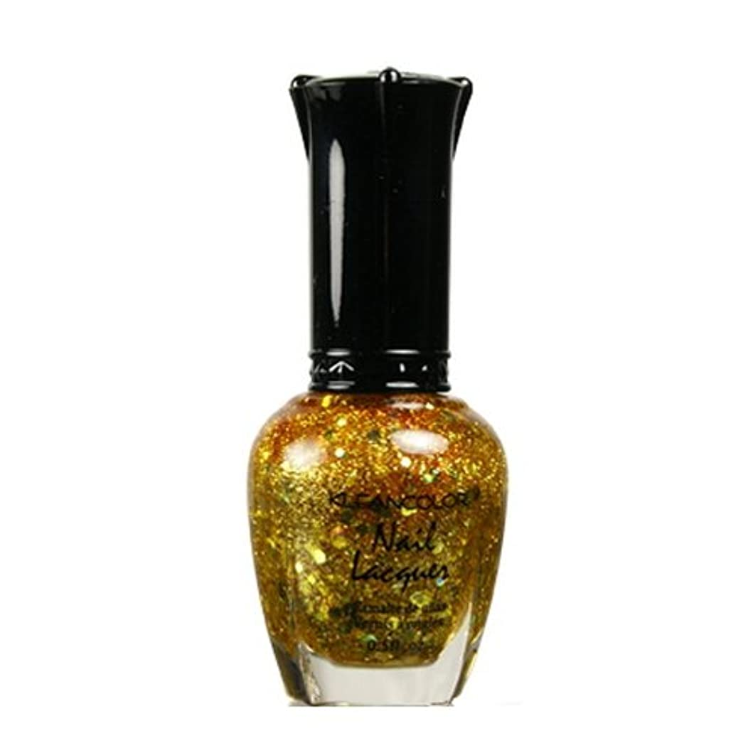 タイプライター長くするテセウス(3 Pack) KLEANCOLOR Nail Lacquer 4 - Gold Caviar (並行輸入品)