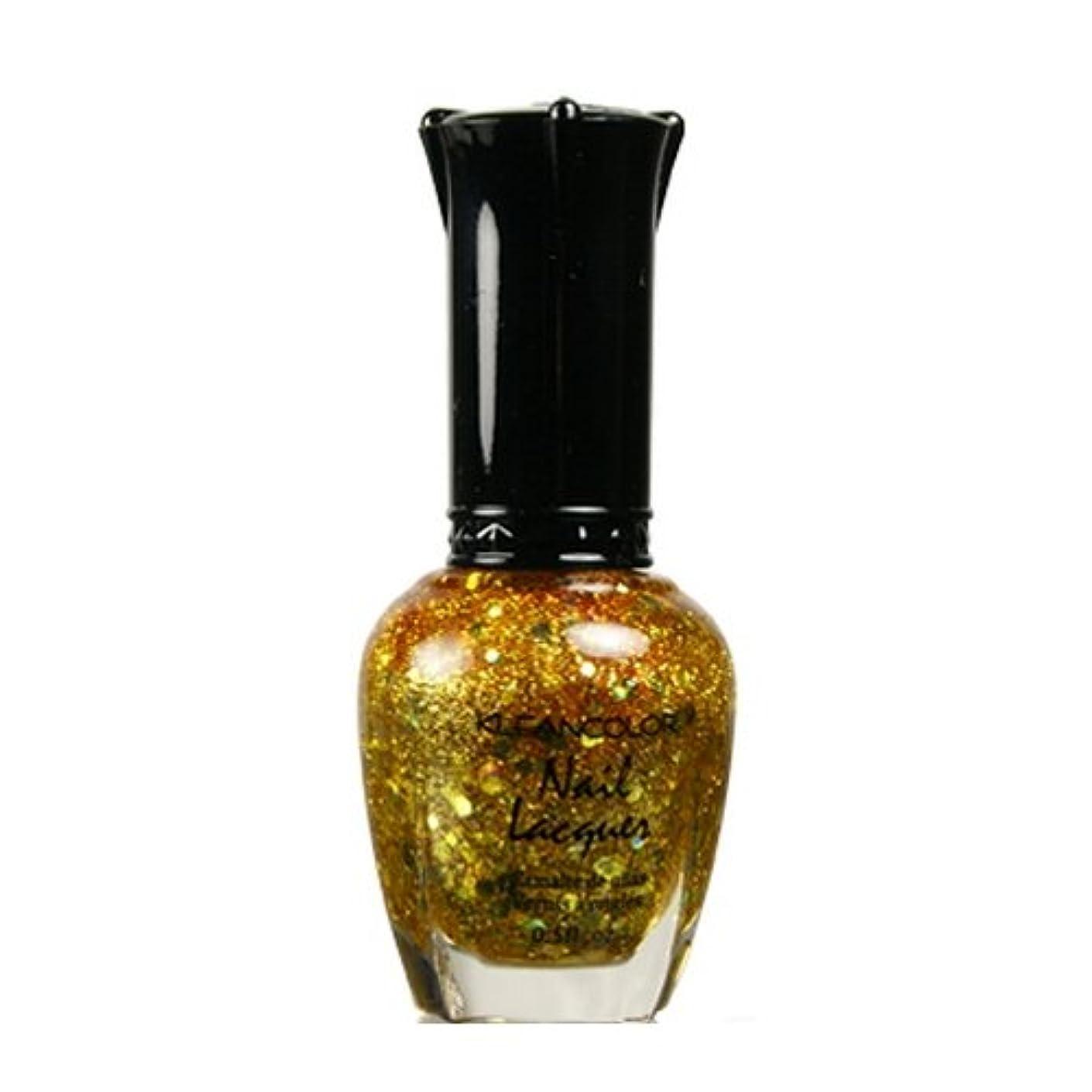 期限切れブランド名ロック(3 Pack) KLEANCOLOR Nail Lacquer 4 - Gold Caviar (並行輸入品)