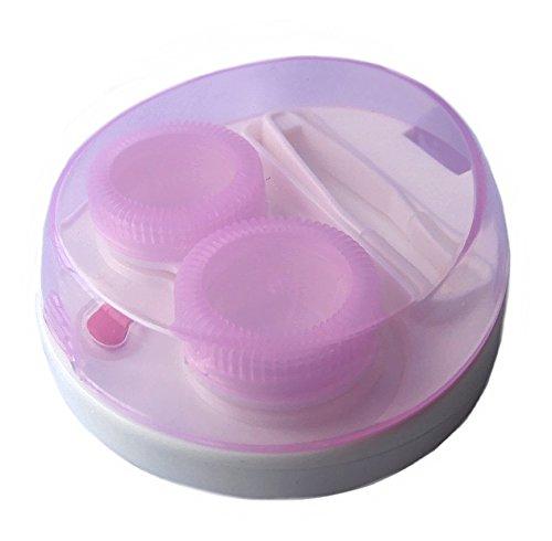 【ノーブランド品】携帯用 超音波 クリーナー コンタクトレンズ 洗浄器 ピンク 電池式