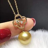 クローバーのネックレス 真珠のネックレス 11-12mmネックレス