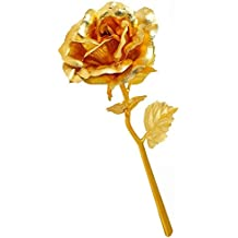 VANRA 24k Gold Rose Foil Flowers 6 Inches Handcrafted Last Forever with Gift Box, Personalized Custom Text - Best Gift for Valentine's Day, Mother's Day, Christmas, Birthday, Wedding