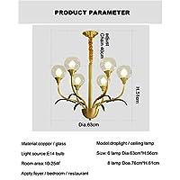 北欧ledペンダントライト、8アームメタルリビングルームの寝室ゴールド高級吊りランプクリアガラスボールランプシェード付きE27つりランプ天井ランプモダンシャンデリアゴールド (色 : Ceilinglamp, サイズ さいず : 6lamps)