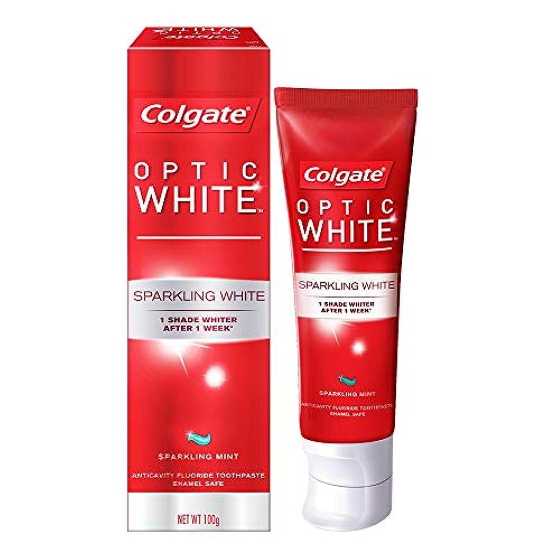公同様に誇張するコールゲート オプティック ホワイト スパークリングシャイン 100g 歯磨き粉 Colgate Optic White Sparkling Shine 100g Tooth Paste