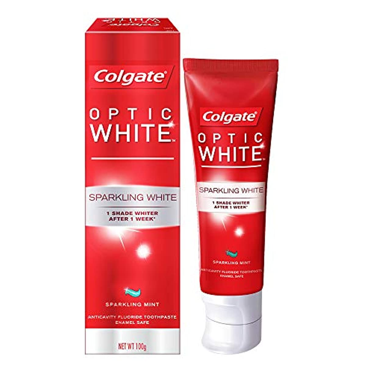 保険そこ言語学コールゲート オプティック ホワイト スパークリングシャイン 100g 歯磨き粉 Colgate Optic White Sparkling Shine 100g Tooth Paste