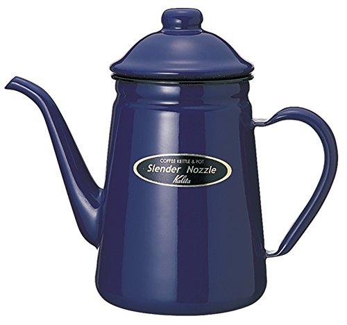 カリタ コーヒーポット ホーロー 細口 1L ブルー #52113