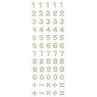 Wrapables番号粘着ラインストーン ゴールド A67917c