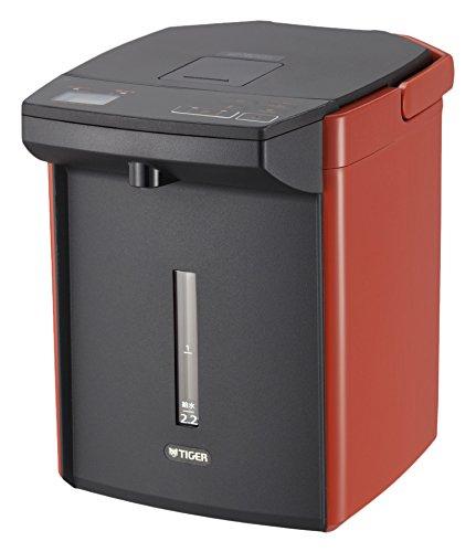 タイガー 魔法瓶 電気 ポット 2.2L バーミリオン 蒸気レス 節電 VE 保温 とく子さん PIJ-A220-DS Tiger