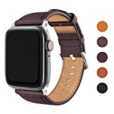 FRESHCLOUD Apple Watch バンド コンパチブル 本革 レザー ビジネス アップルウォッチ バンド apple watch series5 4 3 2 1対応 42mm 44mm 腕時計ベルト おしゃれ 交換ベルト(コーヒーブラウン)