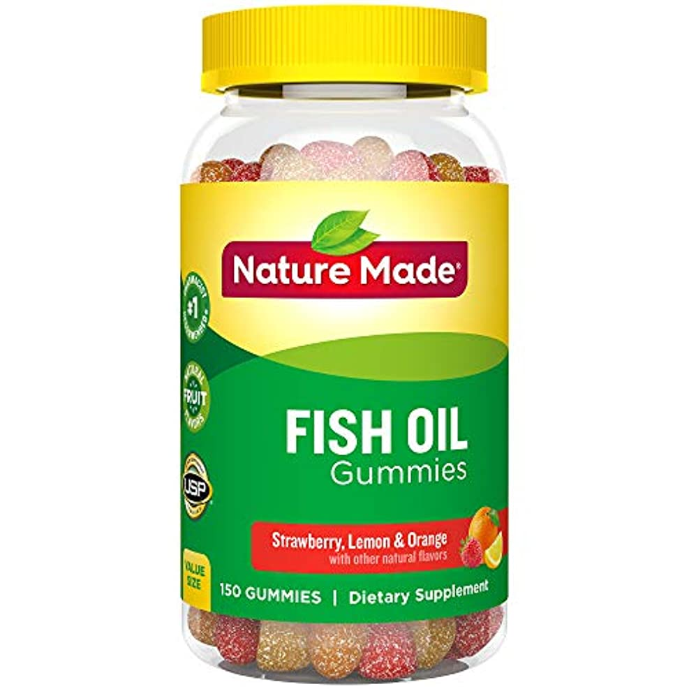 Nature Made Fish Oil Adult Gummies Nutritional Supplements, Value Size, 150 Count 海外直送品