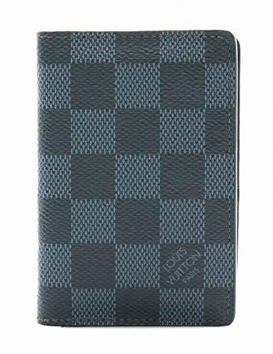 [ルイ ヴィトン] LOUIS VUITTON ダミエコバルト オーガナイザー ドゥ ポッシュ カードケース 名刺入れ イニシャル入り N63210