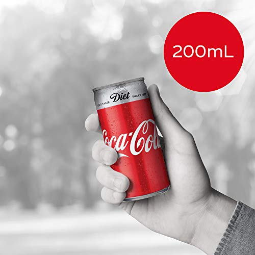 Diet Coca-Cola Soft Drink Mini Cans 8 x 200 mL