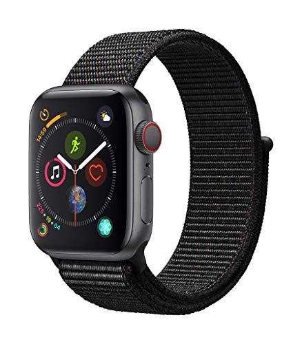 AppleWatch Series4(GPS+Cellularモデル)- 40mmスペースグレイアルミニウムケースとブラックスポーツループ