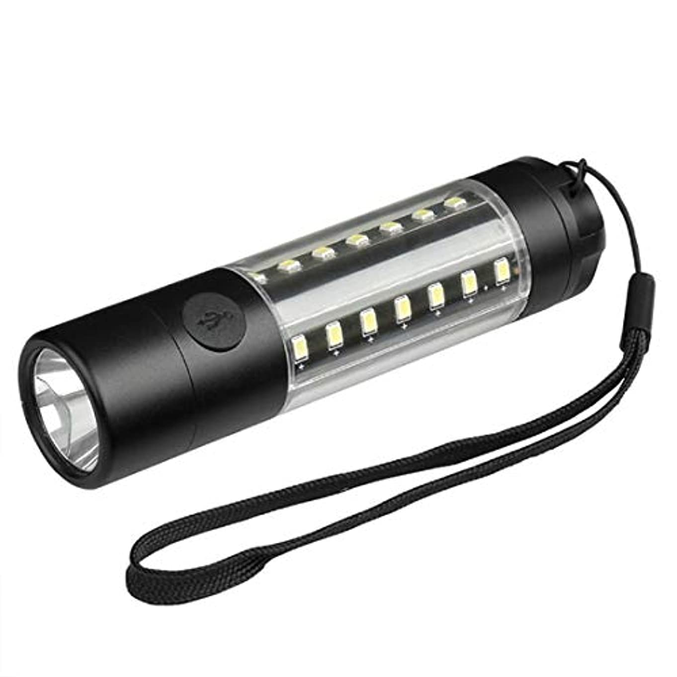 憂慮すべき狼好色なノウ建材貿易 USBミニ懐中電灯アルミ合金懐中電灯LEDグレア充電式懐中電灯