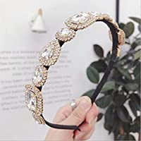 MJPA -end Hair Accessories Women's Rhinestones Super Flash Alloy Diamonds fine Side Hairband Headband Fashion Girl Hair Band (Color : White)