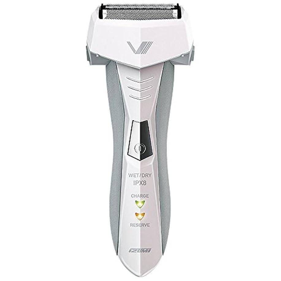 エッセンスヘア人工的なIZUMI VIDAN 往復式シェーバー お風呂剃りシリーズ 3枚刃 ホワイト IZF-V46-W