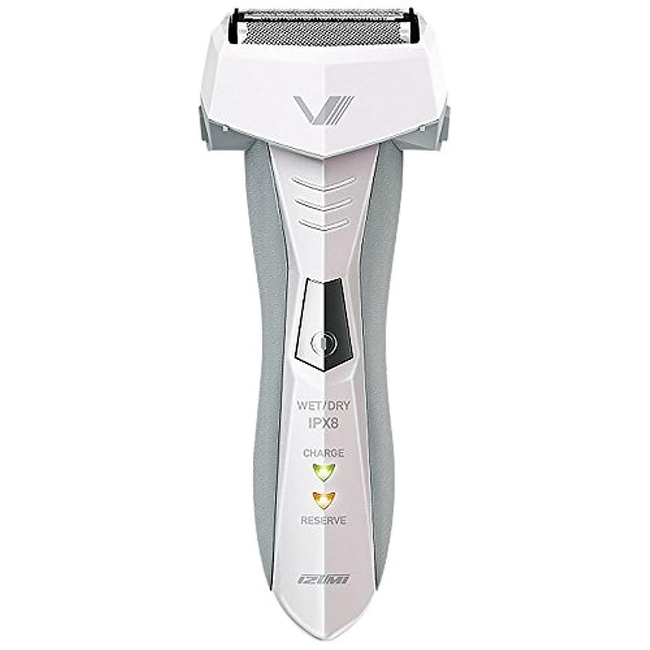 食器棚ふくろう伝染性のIZUMI VIDAN 往復式シェーバー お風呂剃りシリーズ 3枚刃 ホワイト IZF-V46-W