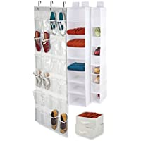 Honey-Can-Do SFTX05037 4 Piece Room Organization Set, White by Honey-Can-Do