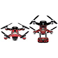 inverlee高級カーボンファイバースキンラップ防水ステッカービニールスキンラップボディプロテクターfor DJI Spark Mini Drone
