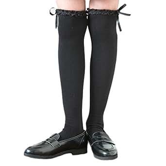 (キャサリンコテージ) Catherine Cottage子供服 女の子 靴下 フォーマル カジュアル サテンリボン&レースニーハイソックス 19-21c... TK6018