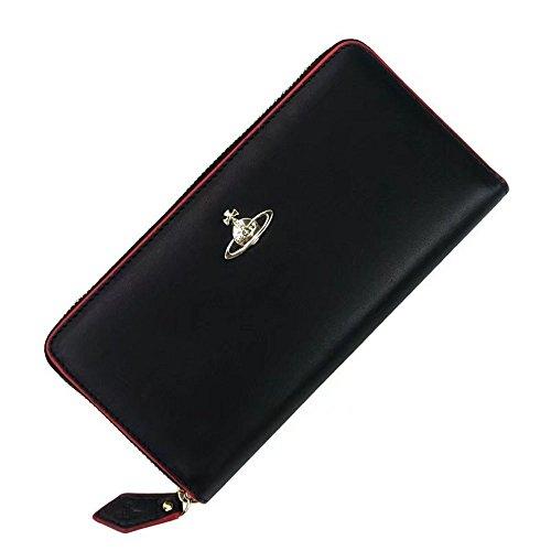 Vivienne Westwood ヴィヴィアン ウエストウッド 財布 長財布 小銭入れ レディース カード入れ 収納 ファスナー (黒) [並行輸入品]