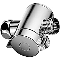 Homyl ホーム ブラス クローム シャワー ヘッド ダイバータ バルブ ホース エクステンション 実用的