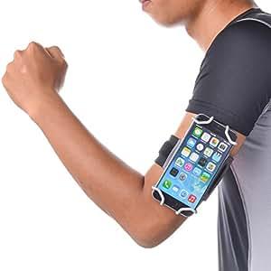 TFY オープンデザインの4~5.5インチ 携帯電話用 スポーツ アームバンド+キーホルダー(直接画面に操作)――iPhone 4 / 4S iPhone 5 / 5 S iPhone 6 - iPhone SE - iPod Tough 5tn & 6th Generation - Neuxs 5 - Lumia 925 / 630 - Samsung Galaxy S4(9500) / S5(G900) / S6 Note 2 (N7100) - HTC One (Max & Mini) / Desire / Butterfly などー (グレー)