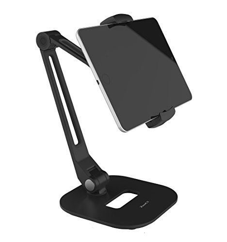 ZenCT タブレット スタンド スマホ ホルダー スマホとタブレット両用 アルミ製 底盤付き 折りたたみ式 角度調整可能 スマホとタブレット両用 iPad mini/iPad air/iPad2/3/4/ Nexus 7/ Kindle等タブレット&スマホ対応 WH037