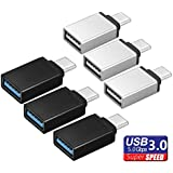 TERSELY USB-C to USB 3.0 Adapter, [6 Pack] USB Type C (Male) to USB A 3.0 (Female) Support OTG Data 5gbps Sync for New MacBook Pro Samsung S9 S10 / Plus Note 9 Chromebook Pixel Huawei and More