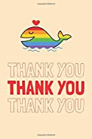 Thank You Thank You Thank You: Rainbow Shark Gratitude and Affirmation Journal For kids Ages 8 9 10 11 12 13 14