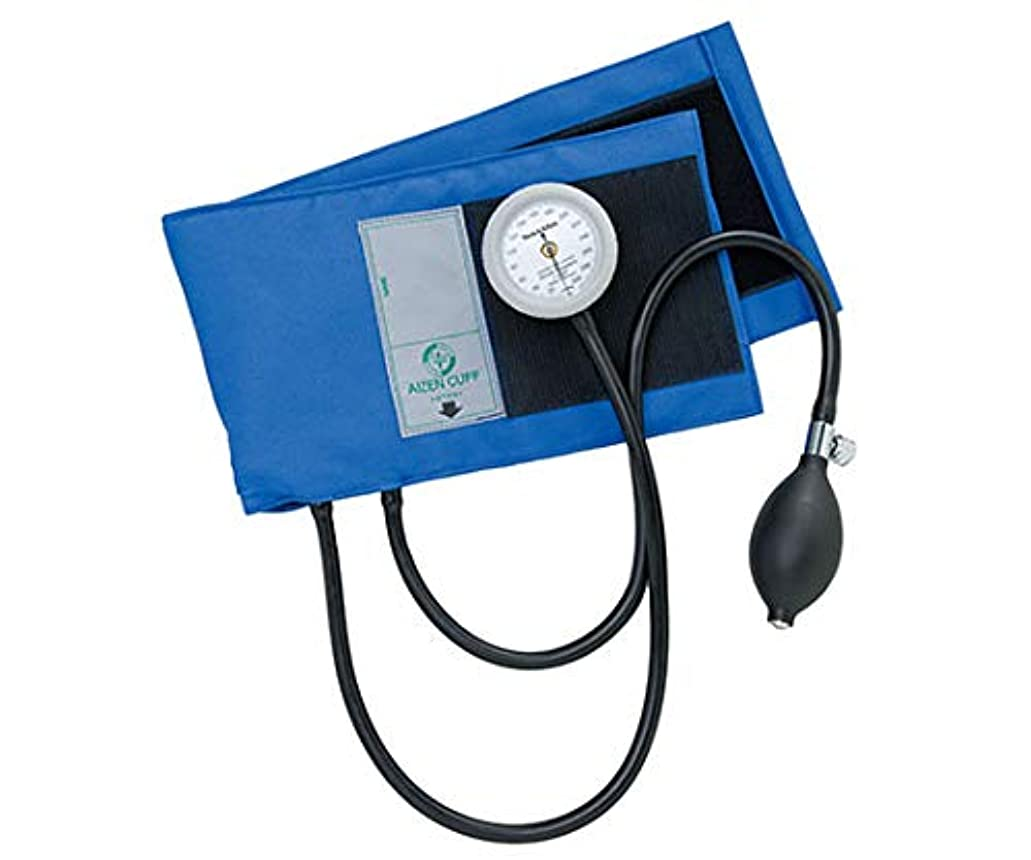 ラインナップ積分十分ではないアイゼンコーポレーション ギヤフリーアネロイド血圧計 綿製カフ タイコス型 ブルー GF700-15E