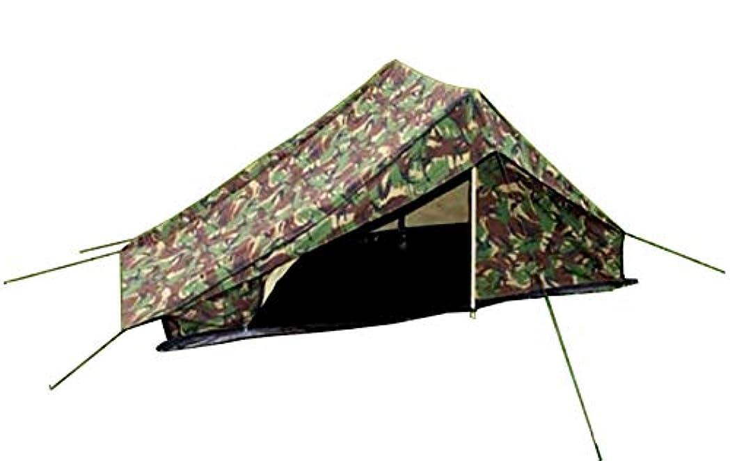 ペーストロードハウス観客オランダ軍 テント 1人用 グランドシート付き 軍払下中古品 エントランス両エンド2カ所 連結可能 収納袋 軍オリジナルストラップ付属 - DUTCH DPM Camo迷彩