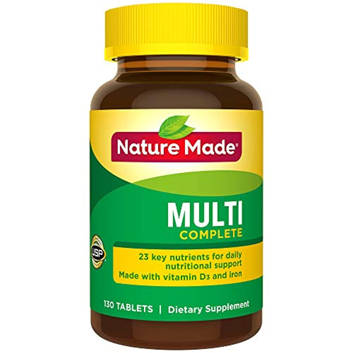 専門知識一致する農場Nature Made Multi Complete with Iron 130 Tablets by Nature Made (English Manual) 海外直送品