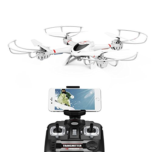 MJX WIFI カメラ付き ドローン IOS/ Androidでリアルタイム FPV 2.4GHz 4CH 6軸ジャイロ 3D VRヘッドセット対応 マルチコプター ヘッドレスムード搭載 国内認証済み【24月保証期間】日本語説明書付属