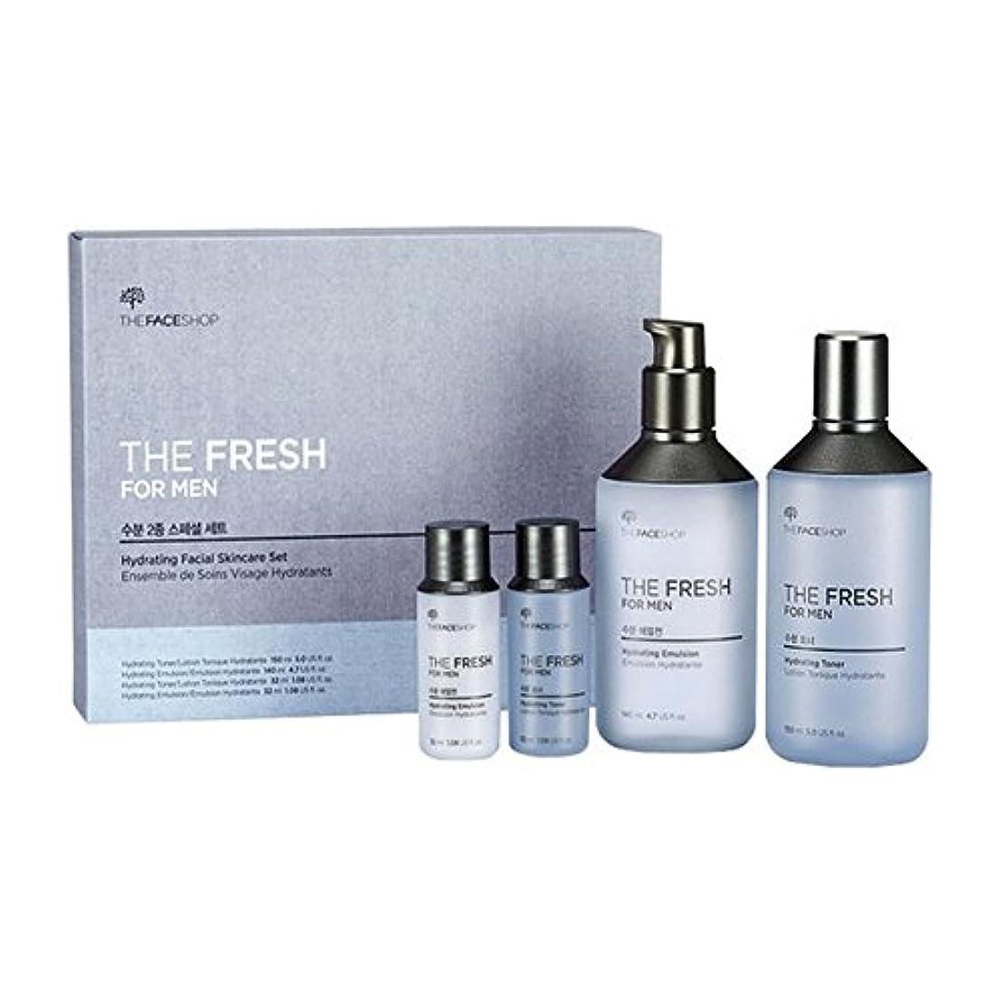 ポップ水銀のサラミザ?フェイスショップ ザ?フレッシュフォーマン?ハイドレーティング?フェイシャルスキンケアセットトナー(150+32ml)エマルジョン(140+32ml)メンズコスメ、The Face Shop The Fresh For Man Hydrating Facial Skincare Set Toner(150+32ml) Emulsion(140+32ml) Men's Cosmetis [並行輸入品]
