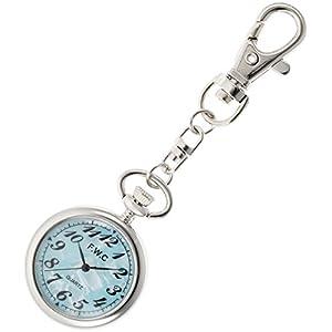 [フィールドワーク]Fieldwork 懐中時計 キーチェーンウォッチ アナログ表示 ブルーシェル DT112-3