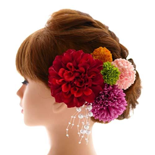 髪飾り6点セット パールシャワー付き【選べるカラーバリエーシ...